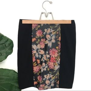 MINKPINK Leather & Floral Mini Skirt! NWT!